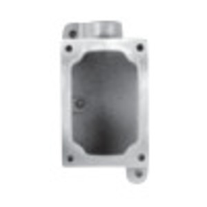 "Appleton EDSC271SA Mounting Body EDS Type, 3/4"", 2-Gang, Feed Thru, Aluminum"