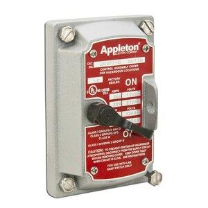 Appleton EDSF21Q 20 Amp, 120/277V AC, 1-Gang EDS Switch, Cover