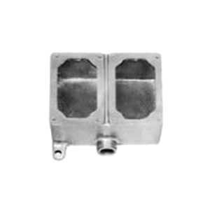 """Appleton EFD275-NL-Q Mounting Body, EFD Type, 3/4"""", 2-Gang, Dead-End, Malleable Iron"""
