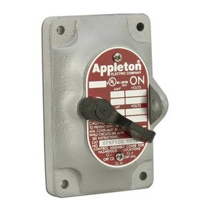 Appleton EFK-F12-Q EFS Switch Cover Only, 1-Gang, 10A, 120/277