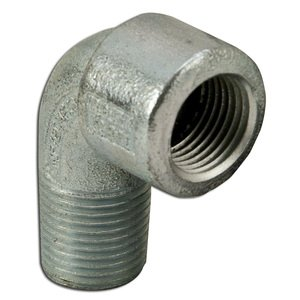 "Appleton ELMF90-50 Elbow, Long, 90°, 1/2"", Male/Female, Explosionproof, Malleable Iron"