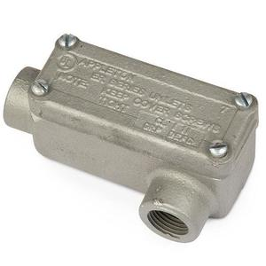 "Appleton ERLL50 Explosionproof Conduit Body, Type: LL, 1/2"", Maleable Iron"