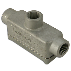 "Appleton ERTB50 Conduit Body, Type: T, 1/2"", Explosionproof, Malleable Iron"