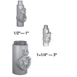 "Appleton EYM100 Sealing Fitting, 1"", Male/Female, Vertical (25% Fill), Malleable"
