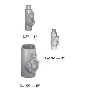 "Appleton EYM200 Sealing Fitting, 2"", Male/Female, Vertical (25% Fill), Malleable"