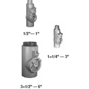 "Appleton EYM75-AL Conduit Seal, 3/4"", Male/Female, Vertical (25% Fill), Aluminum"