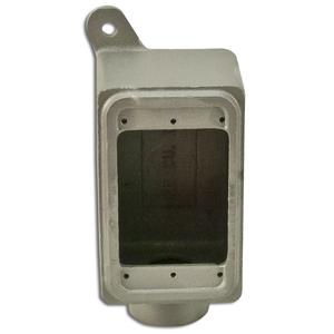 "Appleton FD-1-75L FD Device Box, 1-Gang, Dead-End, Type FD, 3/4"" Malleable Iron"