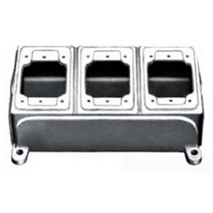 "Appleton FDB-3L-A FD Device Box, 3-Gang, Type: FDB, Blank, Depth: 2.69"", Malleable Iron"