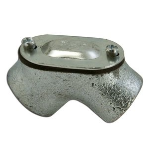 "Appleton FFL-50 Pulling Elbow, 1/2"", 90°, Female/Female, Gasketed, Malleable Iron"