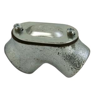 "Appleton FFL-75 Pulling Elbow, 3/4"", 90°, Female/Female, Watertight, Malleable Iron"