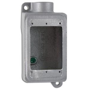 """Appleton FS-1-75L FS Device Box, 1-Gang, Dead-End, Type FS, 3/4"""", Malleable Iron"""