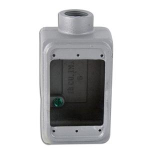 """Appleton FS175 FS Device Box, 1-Gang, Dead-End, Type: FS, 3/4"""", Malleable Iron"""