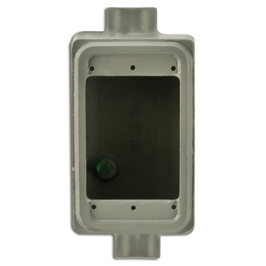 "Appleton FSC175 FS Device Box, 2-Gang, Feed-Thru, Type: FSC, 3/4"", Malleable Iron"