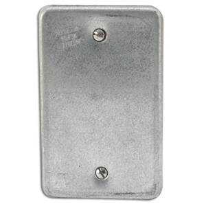 Appleton FSK-1B Blank Cover, 1-Gang, Steel, Fits FS and FD Boxes