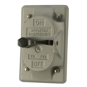Appleton FSK-1VS-A Switch Cover, 1-Gang, Aluminum