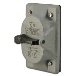 Appleton FSK-1VS Tumbler Switch Cover, 1-Gang, Malleable Iron