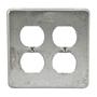 Appleton FSK-2DR Duplex Receptacle Cover, 2-Gang, Steel, For FS Device Box
