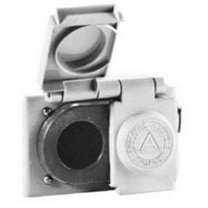 Appleton FSK-WRD Power Outlet Plate, 1-Gang, Aluminum