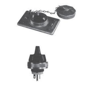 Appleton FSK5-20 FS Cover/Plug, Weatherproof, 1-Gang, Nema 5-20P, Malleable
