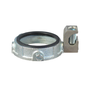 "Appleton GIB-350L-20AC Grounding Bushing, 3-1/2"", Threaded, Insulated, Malleable Iron"