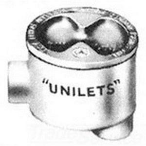 "Appleton GRHLB100 Conduit Outlet Box, Type GRHLB, (2) 1"" Hubs, Malleable Iron"