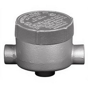 "Appleton GRJCA50 Conduit Outlet Box, Type GRJCA, (3) 1/2"" Hubs, Malleable Iron"