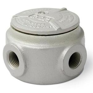 "Appleton GRJS75 Universal Conduit Outlet Box, Type: GRJS, (5) 3/4"" Hubs, Malleable"