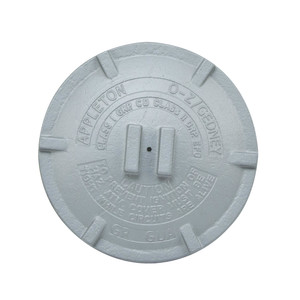 "Appleton GRK3 Conduit Outlet Box Cover, Diameter: 4.88"", Aluminum"