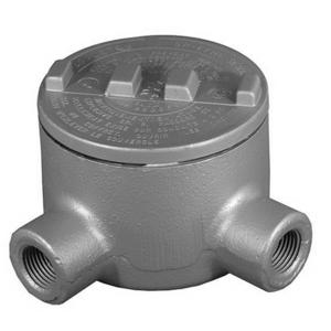 "Appleton GRL150-A Conduit Outlet Box, Type GRL, (2) 1-1/2"" Hubs, Aluminum"
