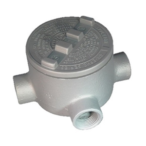 "Appleton GRTA50 Conduit Outlet Box, Type GRTA, (4) 1/2"" Hubs, Malleable Iron"