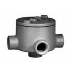 "Appleton GRTA75A Conduit Outlet Box, Type GRTA, (4) 3/4"" Hubs, Aluminum"