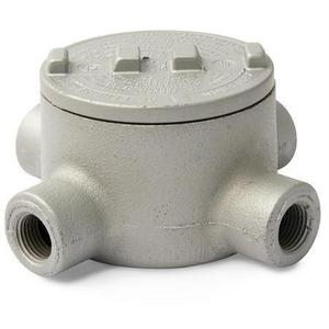 "Appleton GRX150 Conduit Outlet Box, Type: GRX, (4) 1-1/2"" Hubs, Malleable"