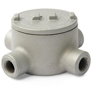 "Appleton GRX75-A Conduit Outlet Box, Type: GRX, (4) 3/4"" Hubs, Aluminum"