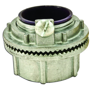 "Appleton HUBG50DN Grounding Hub, 1/2"", Insulated, Gasketed, Watertight, Zinc Die Cast"