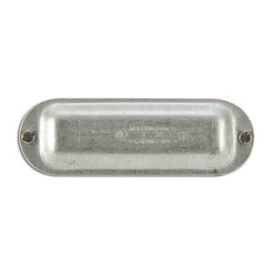 "Appleton K50 Conduit Body Cover, Type: Screw On, Form 35, Size: 1/2"", Steel"