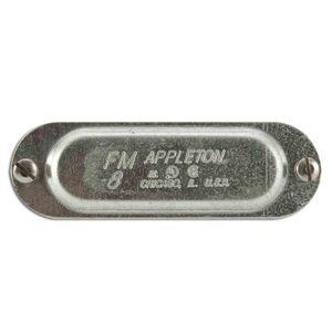 "Appleton K75 Conduit Body Cover, 3/4"", Form 35, Steel"