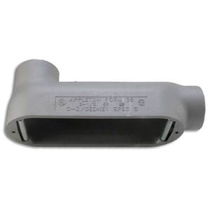 "Appleton LB150-M Conduit Body, Type: LB, Size: 1-1/2"", Form 35, Malleable Iron"