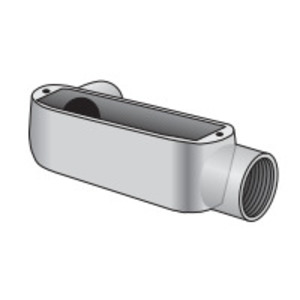 "Appleton LR-50-D Conduit Body, Type LR, 1/2"", Aluminum/Epoxy Powder Coat"