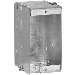 "Appleton M1-350 Masonry Box, 1-Gang, 3-1/2"" Deep, 1/2 "" & 3/4"" KOs, Metallic"
