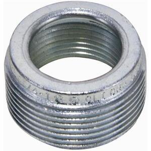 "Appleton RB75-50 Reducing Bushing, Threaded, Steel, 3/4"" x 1/2"""