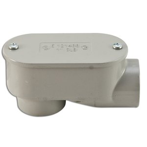 "Appleton SLB-50 Conduit Body, Type SLB, 1/2"", Cover/Gasket, Aluminum"