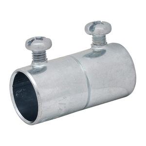 "Appleton SNTCC-150 Rigid Set Screw Coupling, 1-1/2"", Steel, Concrete Tight"