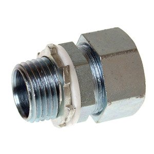 "Appleton ST-100AL Liquidtight Connector, 1"", Straight, Aluminum"