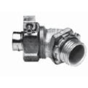 "Appleton STB-45150 Liquidtight Connector, 1-1/2"", 45°, Insulated, Steel/Zinc"