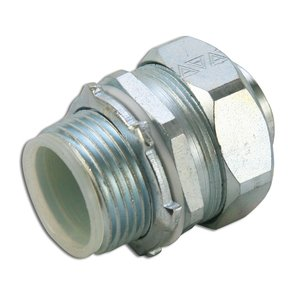 "Appleton STB-50 Liquidtight Connector, Straight, 1/2"", Insulated, Steel"