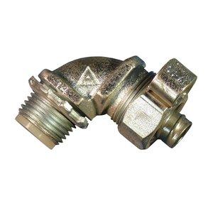 "Appleton STB-9075L Liquidtight Grounding Connector, 3/4"", 90°, Insulated, Steel/Zinc"