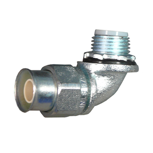 Appleton STNM-90150 Liquidtight Connector, 90°, 1 1/2 Inch, Insulated, Steel