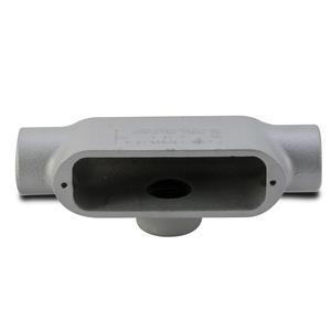 "Appleton T50-M Conduit Body, Type: T, 1/2"", Form 35, Malleable Iron"