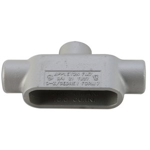 "Appleton TB27SA Conduit Body, Type TB, Form 7, Size: 3/4"", Aluminum"