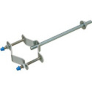 "Arlington 615 Universal Pipe Support, Length: 10"", Mast Size: 1-1/4 to 3"", Steel"
